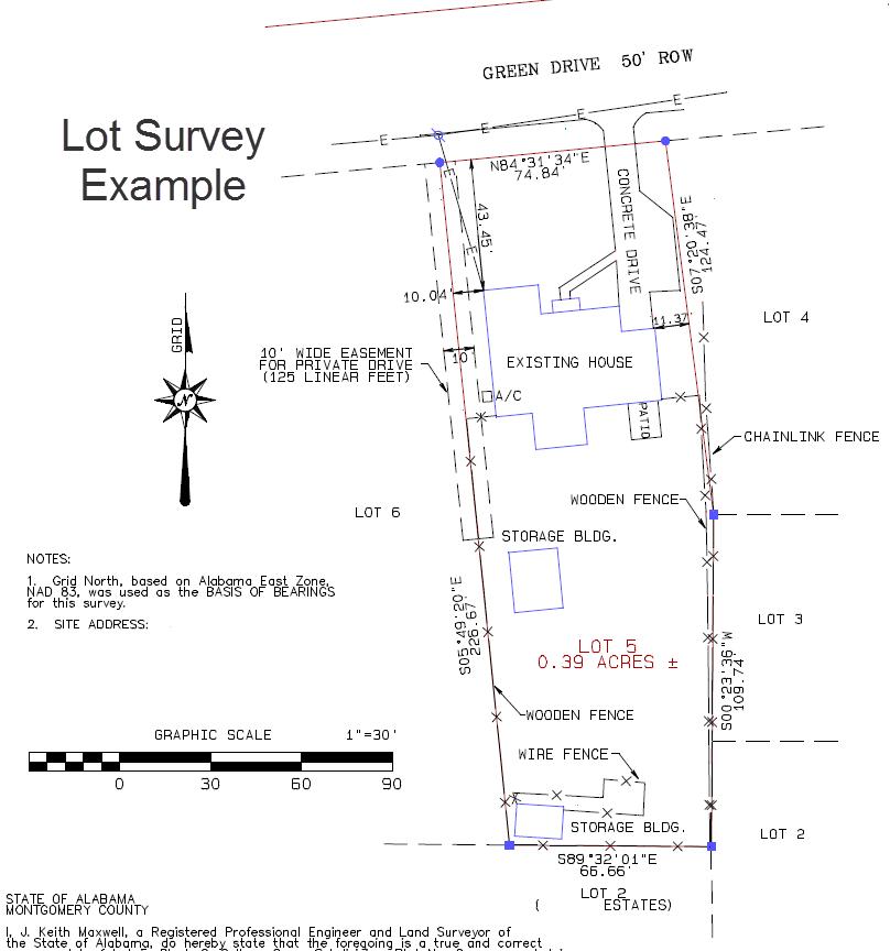 lot survey | mortgage survey